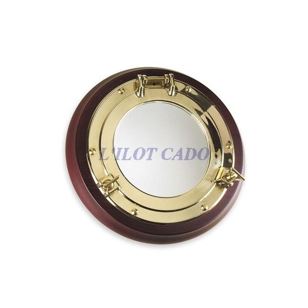 Miroir hublot laiton 23cm l 39 ilot cado for Miroir laiton