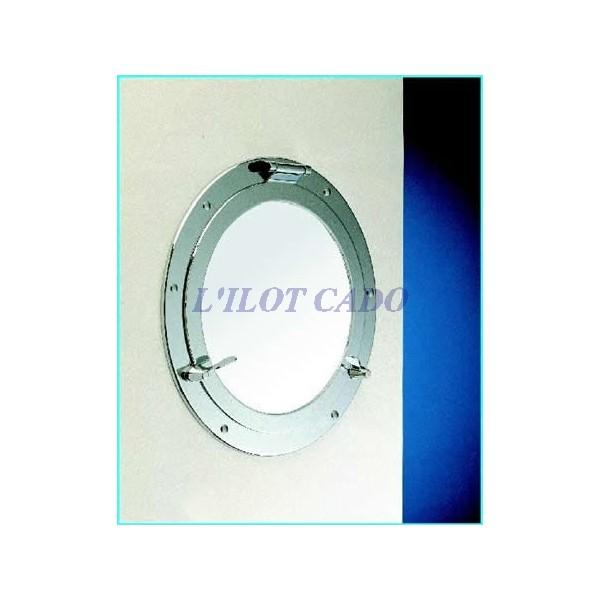 Miroir laiton chrom 37cm l 39 ilot cado for Miroir laiton
